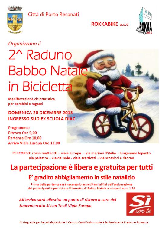 Babbo Natale In Bicicletta.Sai Andare In Bici Hai Un Abito Di Babbo Natale O Un Cappellino