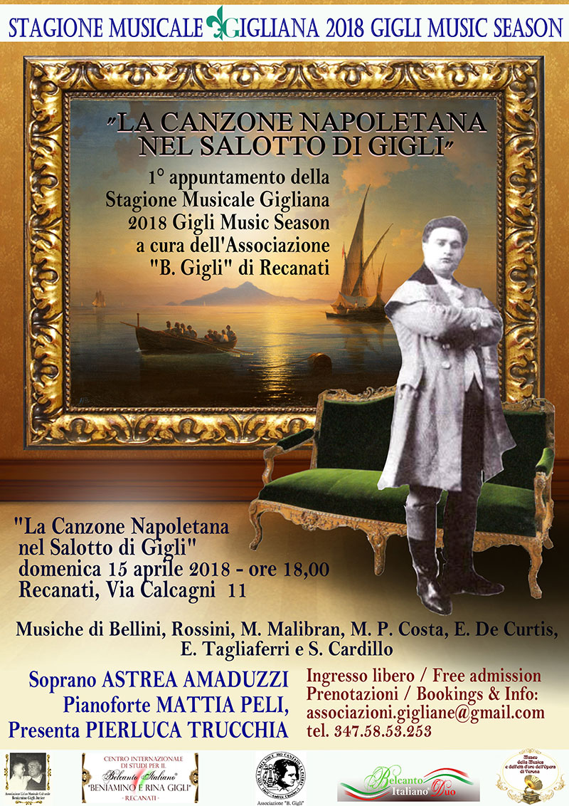 Belcanto In Salotto.Inaugurazione Stagione Musicale Gigliana Concerto La