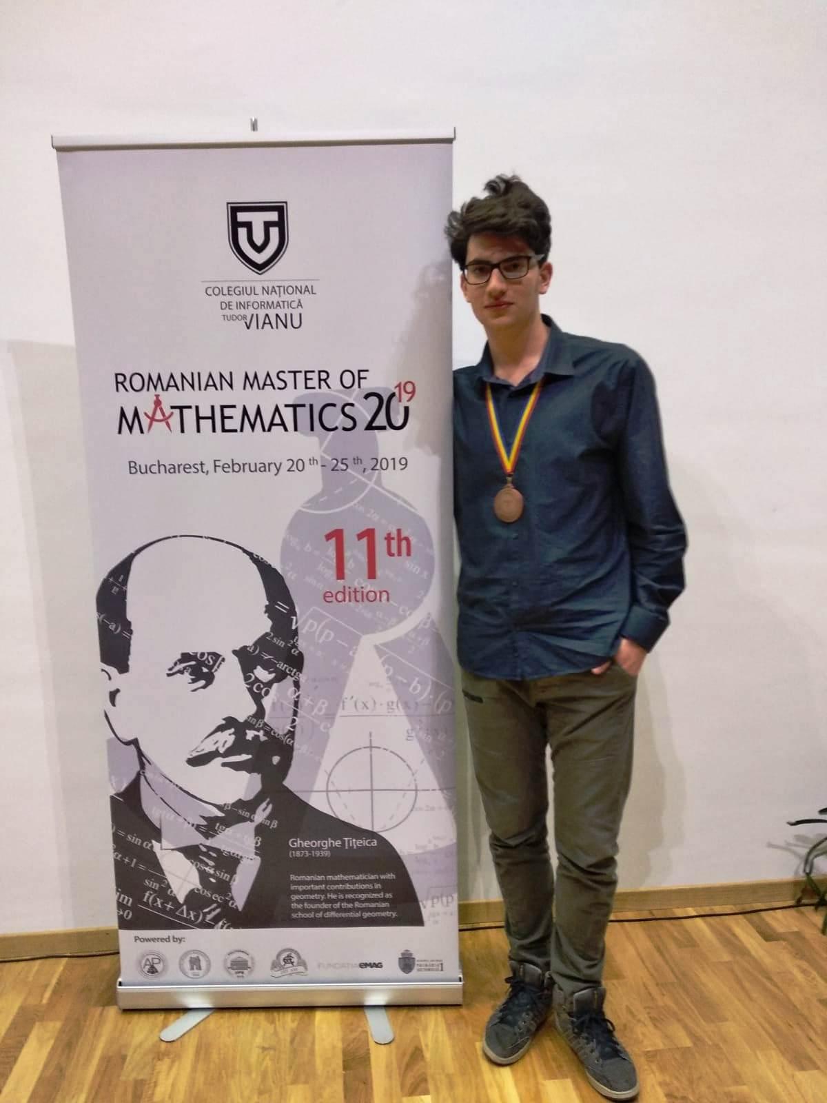 Eduardo Venturini (Liceo Scienze Applicate) terzo agli