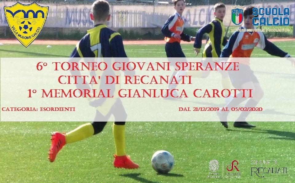 Torna il 6° Toreno Giovani Speranze Città di Recanati, 1° Memorial Carotti - Il Cittadino di Recanati