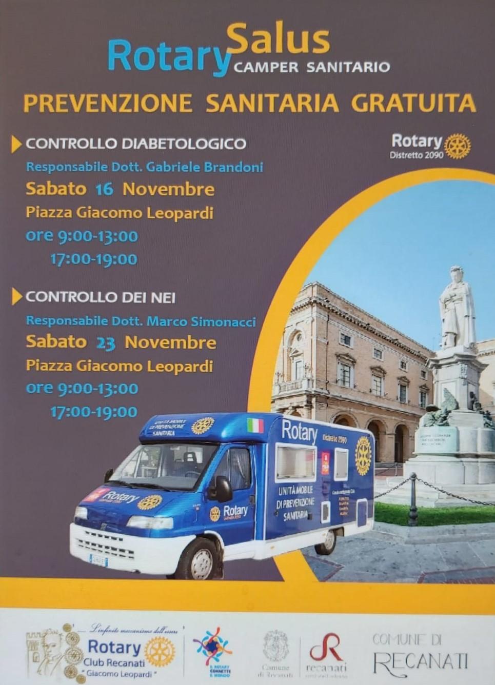 """Con """"Rotary Salus"""" week end della salute e del benessere a Recanati e Porto Recanati - Il Cittadino di Recanati"""